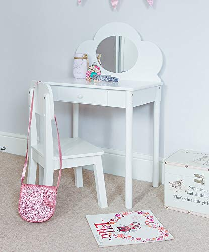 klassischer schminktisch mit stuhl f r kinder wei. Black Bedroom Furniture Sets. Home Design Ideas